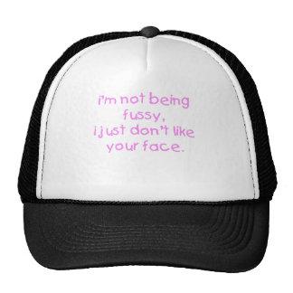 Fussy Face Girl Trucker Hat
