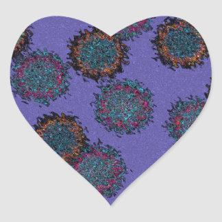fussy flower heart sticker