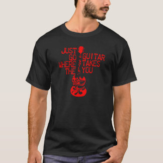 Fussy red guitar T-Shirt