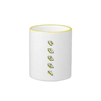 fussy ringer coffee mug