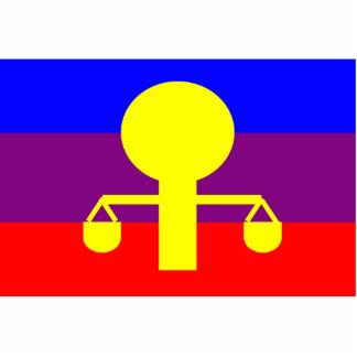 Fustumum, Democratic Republic of the Congo flag Standing Photo Sculpture