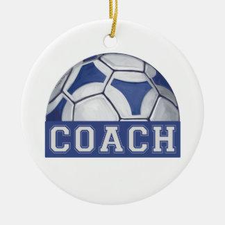 Futbal Coach Ceramic Ornament