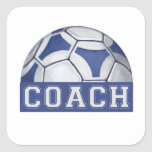 Futbal Coach Square Sticker