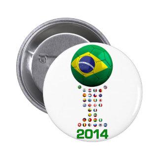 Fútbol 1010 del Brasil Pins