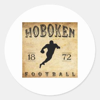 Fútbol 1872 de Hoboken New Jersey Pegatina Redonda