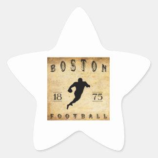 Fútbol 1875 de Boston Massachusetts Pegatina En Forma De Estrella