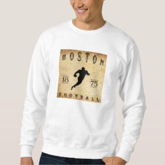 Fútbol 1875 de Boston Massachusetts Sudaderas Encapuchadas