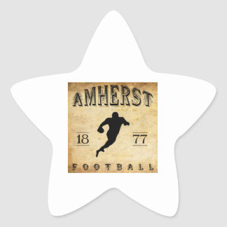 Fútbol 1877 de Amherst Massachusetts Pegatina En Forma De Estrella