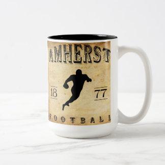 Fútbol 1877 de Amherst Massachusetts Taza De Dos Tonos