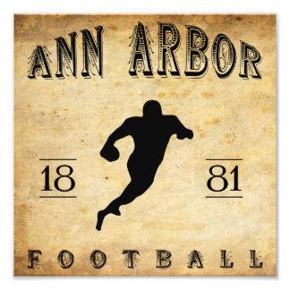 Fútbol 1881 de Ann Arbor Michigan Cojinete