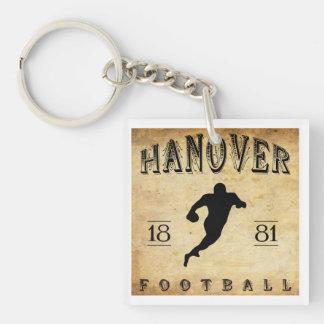 Fútbol 1881 de Hannover New Hampshire Llavero Cuadrado Acrílico A Doble Cara