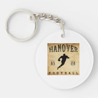 Fútbol 1881 de Hannover New Hampshire Llavero Redondo Acrílico A Doble Cara