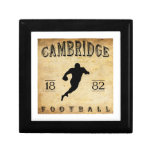 Fútbol 1882 de Cambridge Massachusetts Cajas De Regalo