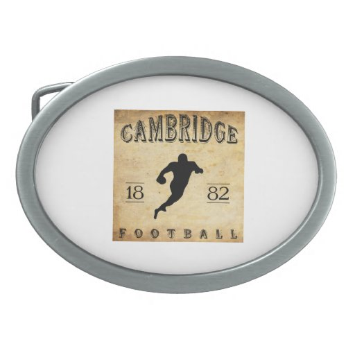 Fútbol 1882 de Cambridge Massachusetts Hebilla De Cinturón Oval