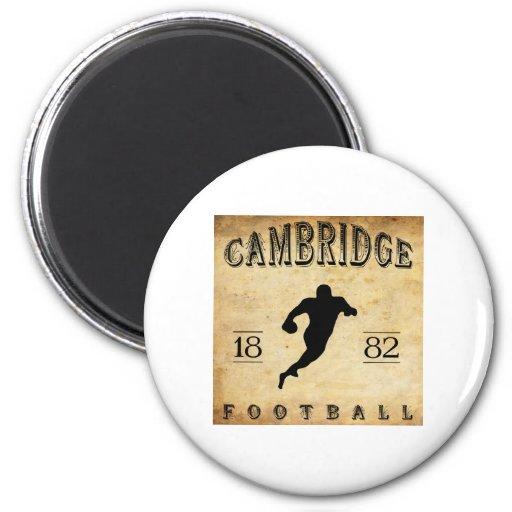 Fútbol 1882 de Cambridge Massachusetts Imán Redondo 5 Cm