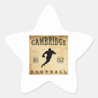 Fútbol 1882 de Cambridge Massachusetts Pegatina En Forma De Estrella