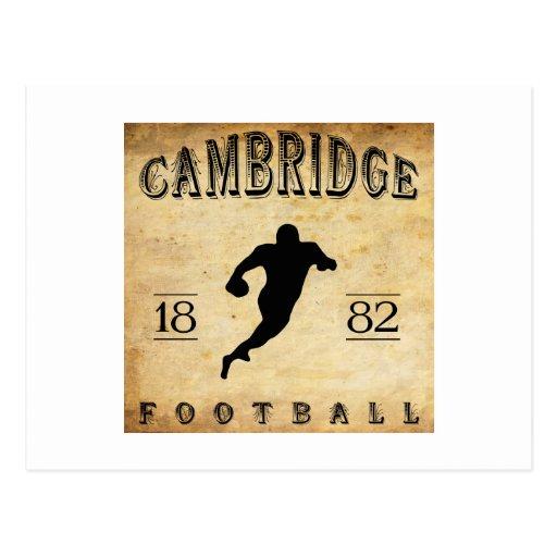 Fútbol 1882 de Cambridge Massachusetts Postal