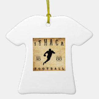 Fútbol 1888 de Ithaca Nueva York Adorno De Cerámica En Forma De Playera