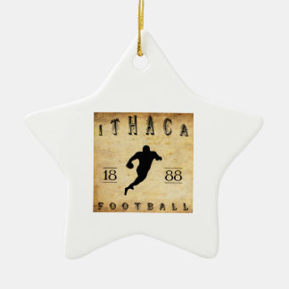 Fútbol 1888 de Ithaca Nueva York Adorno De Cerámica En Forma De Estrella