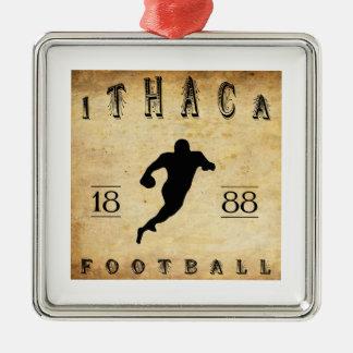 Fútbol 1888 de Ithaca Nueva York Adorno Cuadrado Plateado