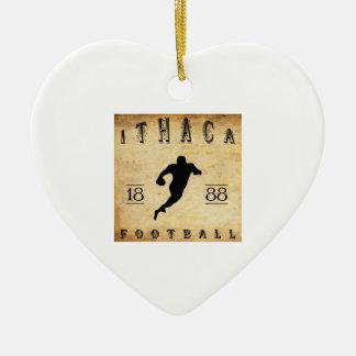 Fútbol 1888 de Ithaca Nueva York Adorno De Cerámica En Forma De Corazón