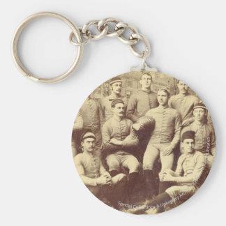 Fútbol 1888 de UMass Llavero Redondo Tipo Pin