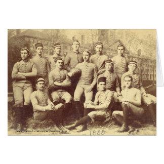 Fútbol 1888 de UMass Tarjeta De Felicitación