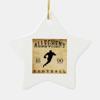 Fútbol 1890 de Allegheny Pennsylvania Adorno Navideño De Cerámica En Forma De Estrella