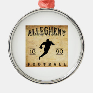 Fútbol 1890 de Allegheny Pennsylvania Adorno Navideño Redondo De Metal