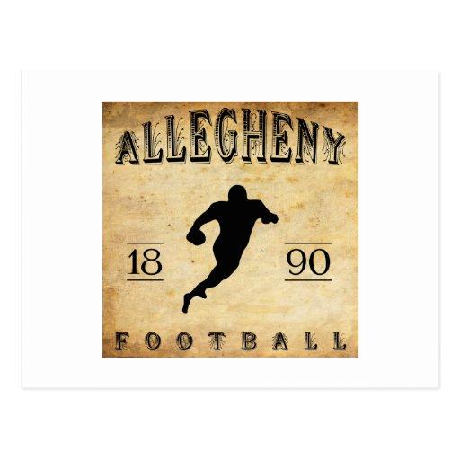 Fútbol 1890 de Allegheny Pennsylvania Postal