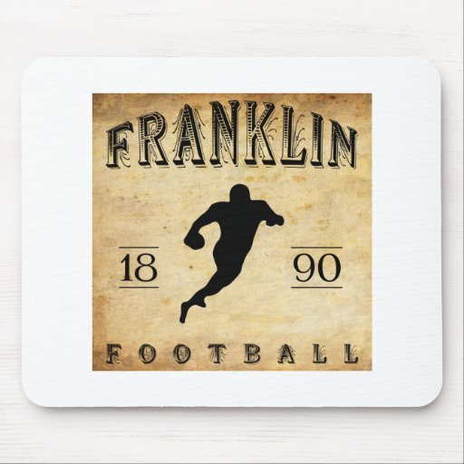Fútbol 1890 de Franklin Pennsylvania Tapete De Ratones