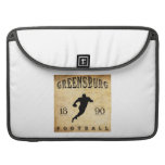 Fútbol 1890 de Greensburg Pennsylvania Fundas Para Macbook Pro