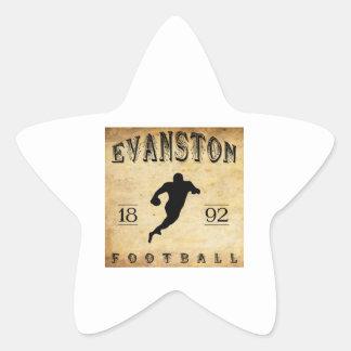 Fútbol 1892 de Evanston Illinois Pegatina En Forma De Estrella