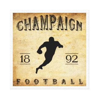 Fútbol 1892 de Illinois del chamán Impresion De Lienzo