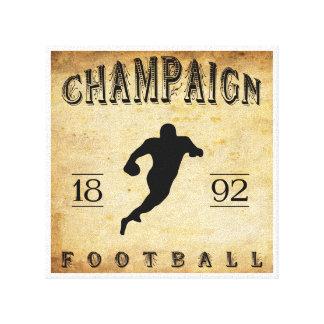 Fútbol 1892 de Illinois del chamán Impresión En Lona Estirada