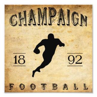 Fútbol 1892 de Illinois del chamán Impresiones Fotograficas