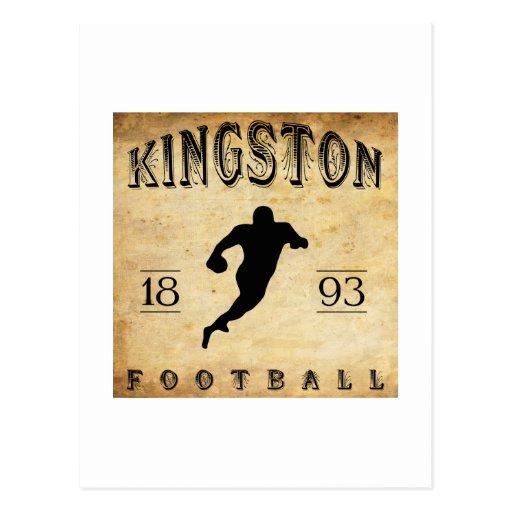 Fútbol 1893 de Kingston Ontario Canadá Tarjetas Postales