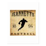 Fútbol 1894 de Jeannette Pennsylvania Tarjeta Postal