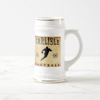 Fútbol 1896 de Carlisle Pennsylvania Jarra De Cerveza