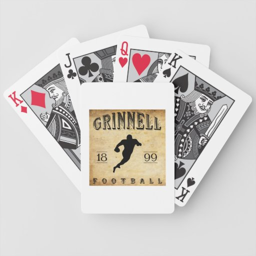 Fútbol 1899 de Grinnell Iowa Barajas De Cartas