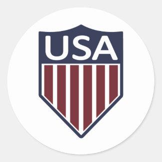 Fútbol 1950 de los E.E.U.U. Pegatina Redonda