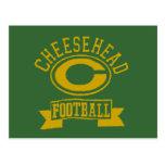 Fútbol 1 de Cheesehead C Postal