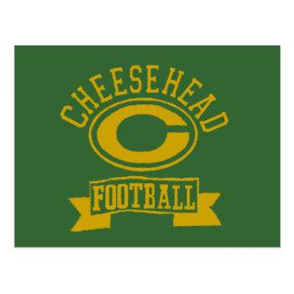 Fútbol 1 de Cheesehead C Tarjetas Postales
