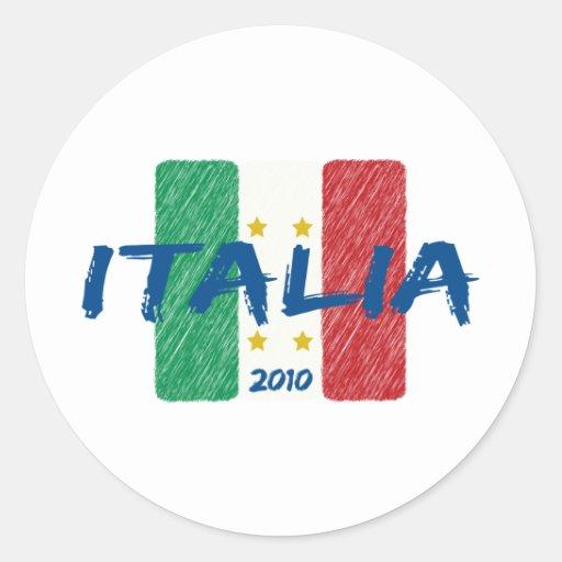 Fútbol 2010 de Italia Pegatina Redonda