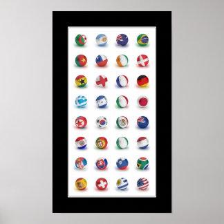 Fútbol 2010 del mundo - poster