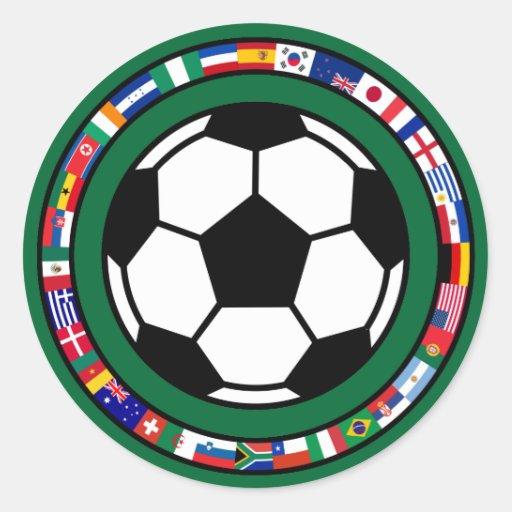 Fútbol 2010 pegatina redonda