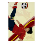 Fútbol 2014 de España del español de Furia Roja de Poster