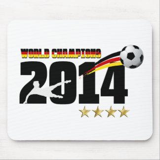 Fútbol 2014 del campeón del mundo de la bandera de alfombrilla de raton