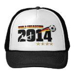 Fútbol 2014 del campeón del mundo de la bandera de gorro