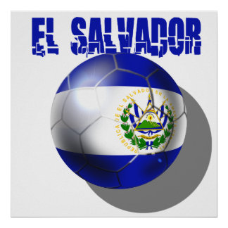 Fútbol 2014 del mundial de El Salvador Cuscatlecos Póster